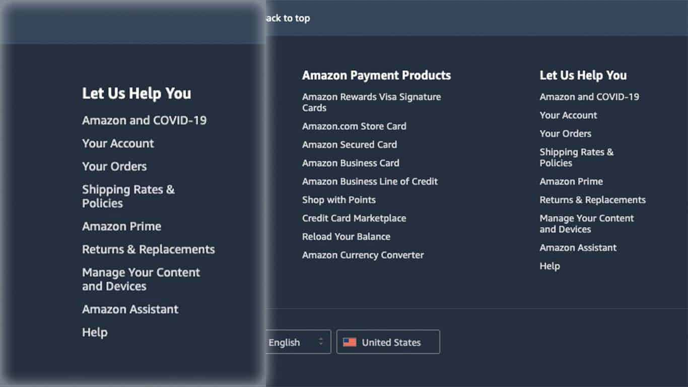 contact amazon customer support help page